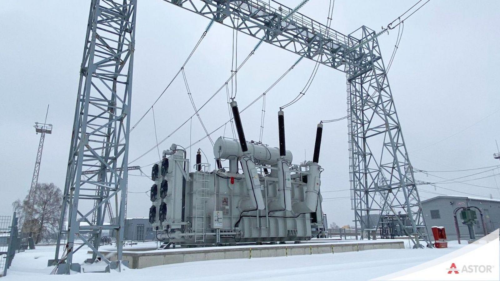 ASTOR %100 Yerli ve Milli Üretimimiz Olan 250 MVA Güç Transformatörümüz Litvanya'da