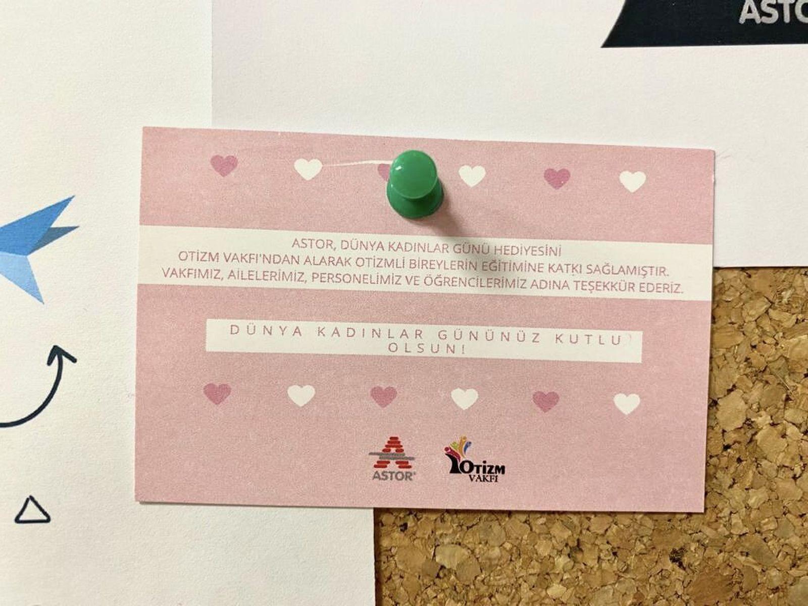ASTOR Astor , Otizm Vakfı  işbirliği ile 8 Mart Dünya Emekçi Kadınlar Günü