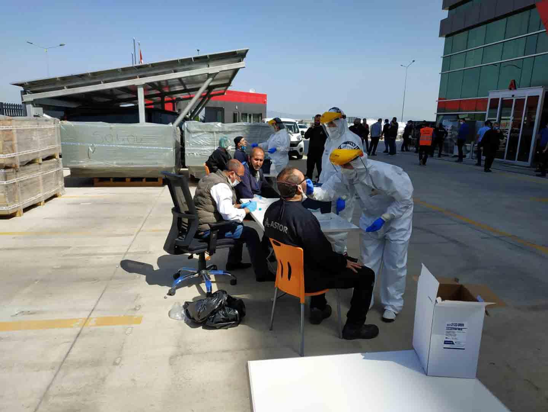 ASTOR Tüm Çalışanlarımıza Covid-19 PCR Testi Yaptırdık
