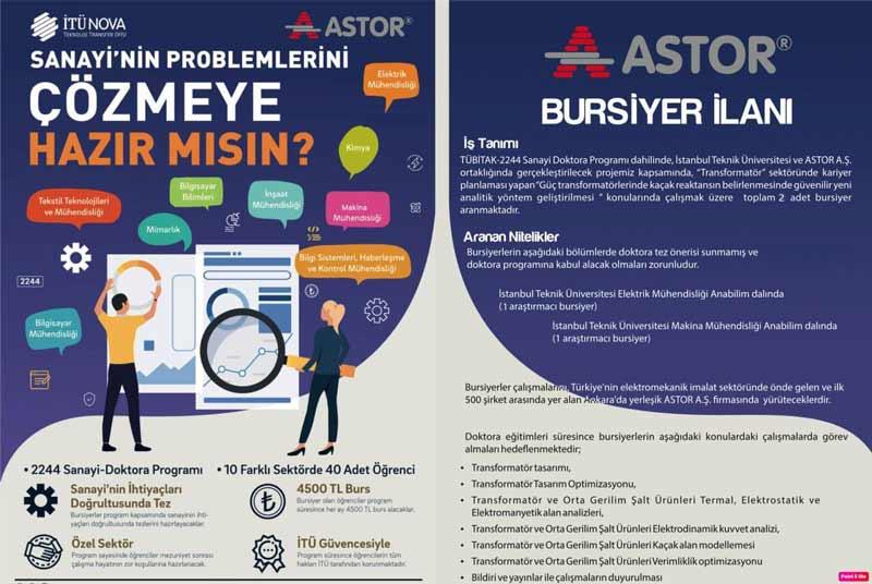 ASTOR ASTOR & İTÜ işbirliği ile hazırlanan projemiz genç yetenekleri bekliyor !